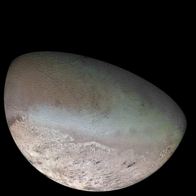 Triton is listed (or ranked) 5 on the list Places in the Solar System Where Your Death Would Be Most Horrific