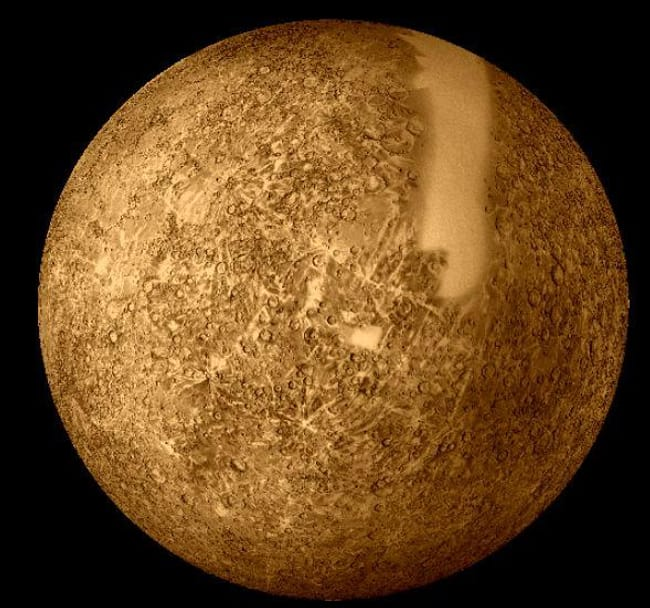 Mercury is listed (or ranked) 4 on the list Places in the Solar System Where Your Death Would Be Most Horrific