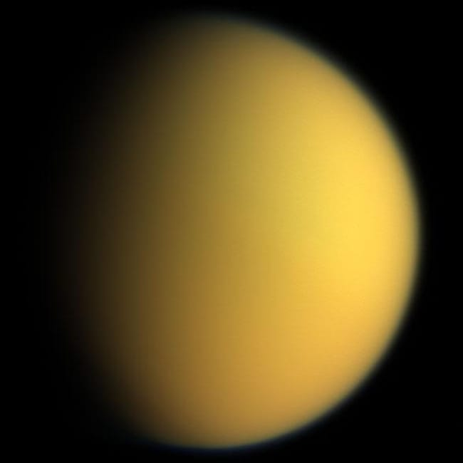 Titan is listed (or ranked) 11 on the list Places in the Solar System Where Your Death Would Be Most Horrific