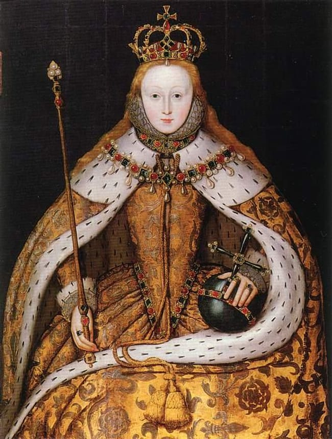 Elizabeth I of England is listed (or ranked) 6 on the list 16 Famous People Who Probably Died as Virgins
