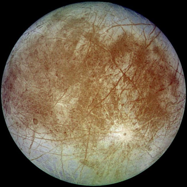 Europa is listed (or ranked) 15 on the list Places in the Solar System Where Your Death Would Be Most Horrific