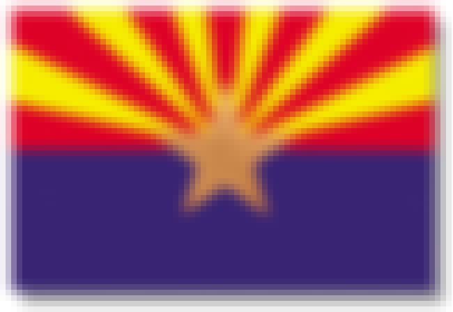Arizona is listed (or ranked) 3 on the list The Best US State Flag