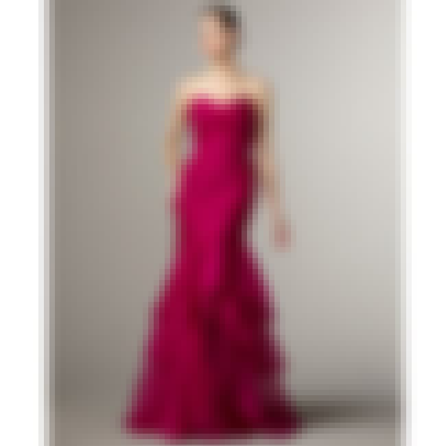 Theia Tiered Pink Organza Merm... is listed (or ranked) 6 on the list Mermaid Prom Dresses