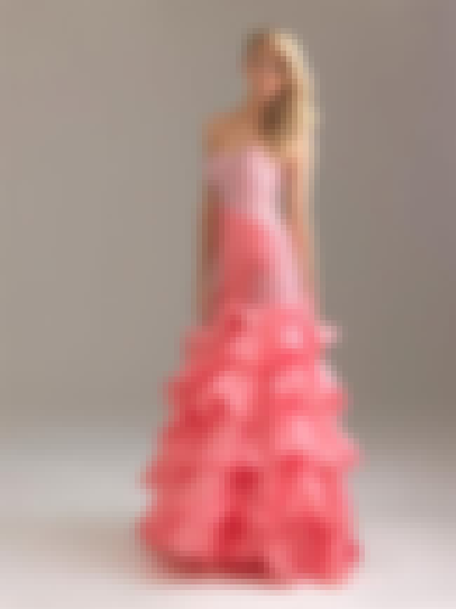 Night Moves Pink Organza Merma... is listed (or ranked) 1 on the list Mermaid Prom Dresses