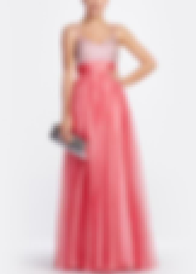 Sleeveless Chiffon Coral Gown ... is listed (or ranked) 6 on the list Plus-Size Prom Dresses