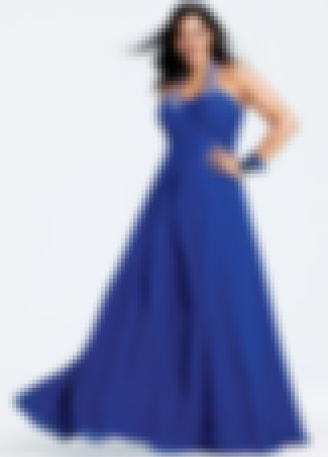 Faviana Plus Size Royal Blue H... is listed (or ranked) 3 on the list Plus-Size Prom Dresses