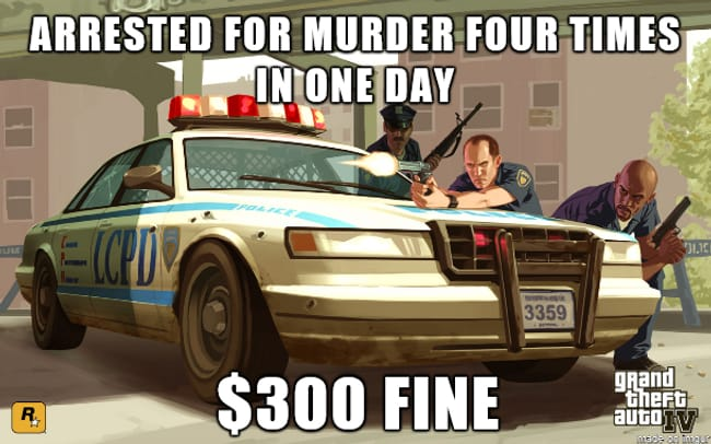 GTA Logic is listed (or ranked) 11 on the list 101 Jokes Only Gamers Will Understand