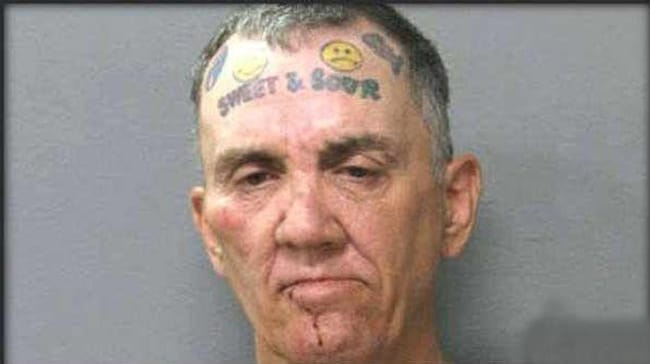 Sour Patch Con is listed (or ranked) 1 on the list The Most Out-Of-Control Face Tattoos Captured By The Mugshot Camera