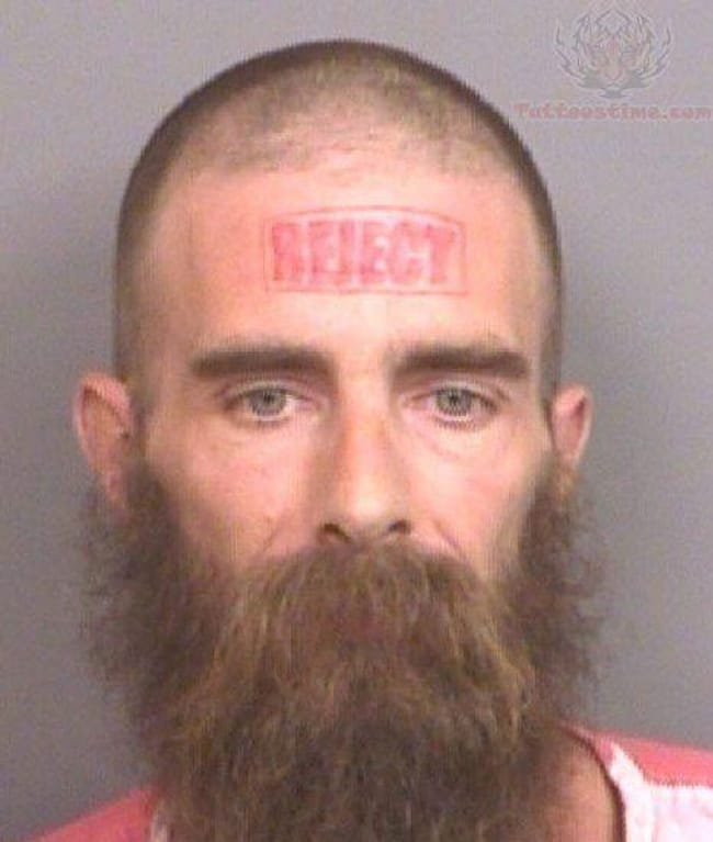Stamp Of Approval is listed (or ranked) 18 on the list The Most Out-Of-Control Face Tattoos Captured By The Mugshot Camera
