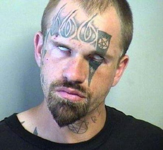 The Blunder Of The Beast is listed (or ranked) 8 on the list The Most Out-Of-Control Face Tattoos Captured By The Mugshot Camera