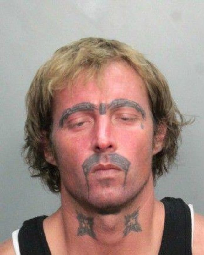 Contouring Goes South is listed (or ranked) 25 on the list The Most Out-Of-Control Face Tattoos Captured By The Mugshot Camera