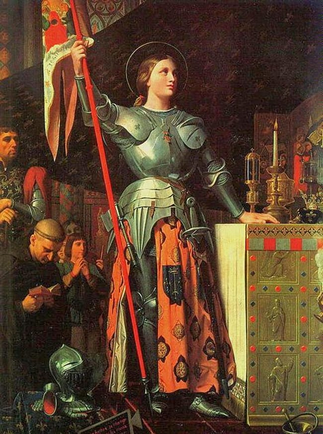 Joan of Arc is listed (or ranked) 9 on the list 16 Famous People Who Probably Died as Virgins
