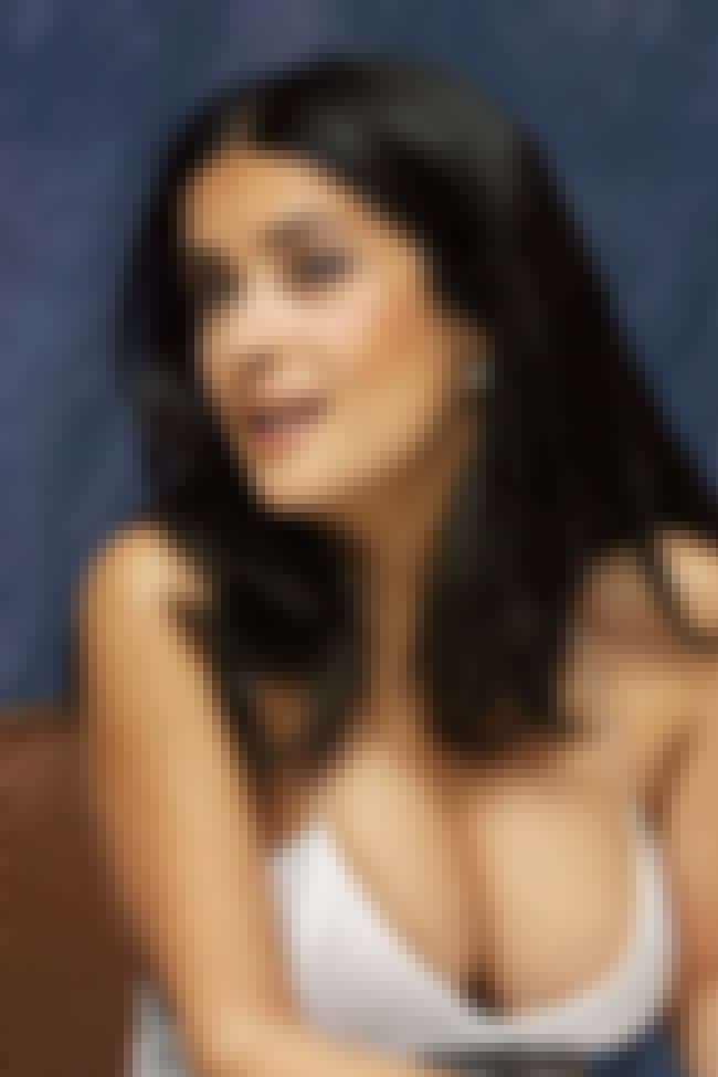 Salma Hayek is listed (or ranked) 6 on the list 8 Excellent Celebrity Breast Augmentations