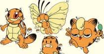 30 Pokemon Drawn As Garfield, Just Because