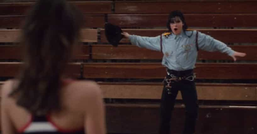 The scene gets completely cringe and humiliating when Corey Feldman does a whole Michael Jackson-inspired dance thing in Dream a Little Dream.