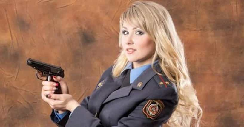 Sexy police woman busts you and makes you jerk for her entertainment 9