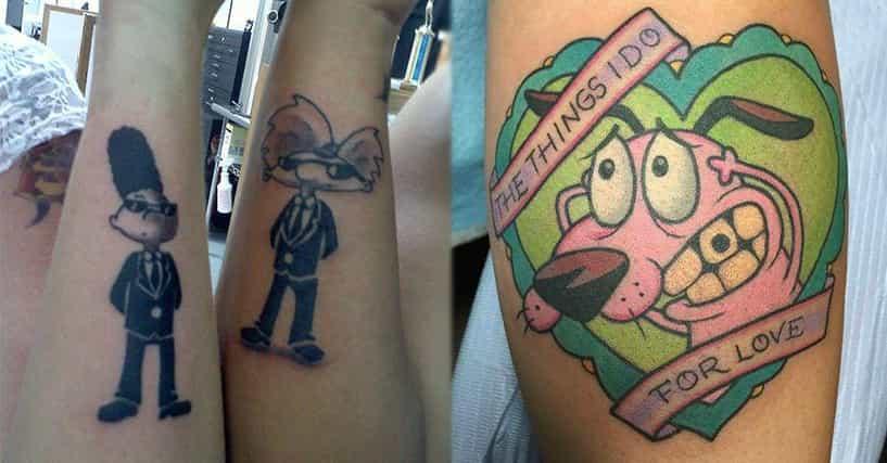 20 Nostalgia Inducing Tattoos Of 90s Cartoons
