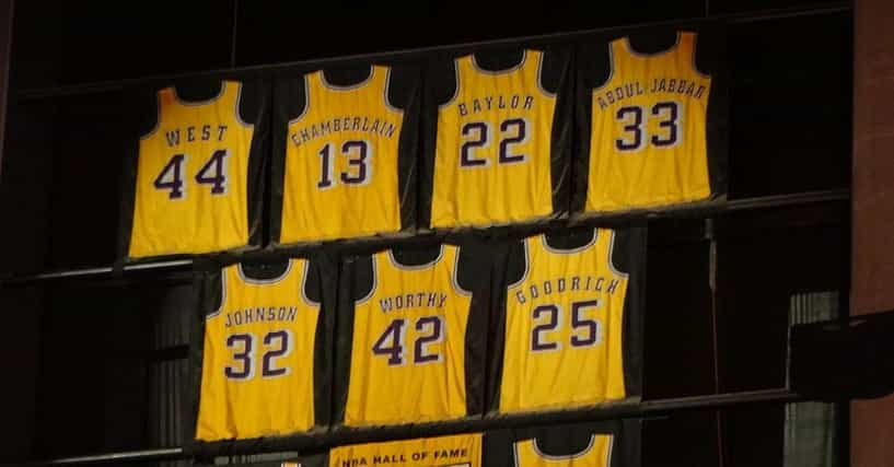 All 10 LA Lakers Retired Numbers, Ranked By Fans