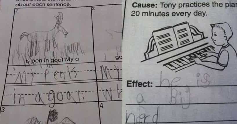 22 Inappropriate Test Answers From Funny Kids