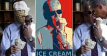 The Funniest Photoshops of Joe Biden Eating Ice Cream, Holding $20