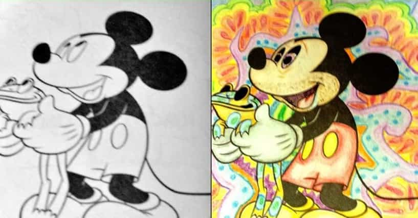 31 Disney Coloring Book Corruptions to Horrify Your Inner