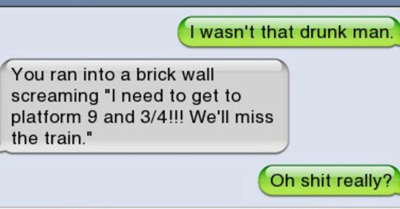 Funny Morning After Texts | Text Messages About Being Drunk