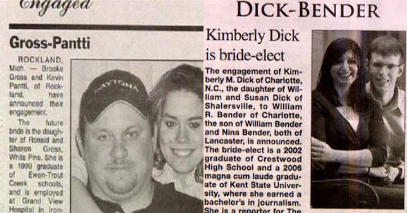 25 Couples with Funny Names That Go Together Perfectly