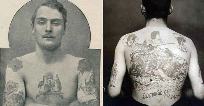16 badass tattoos from the 19th century for 19th century tattoos
