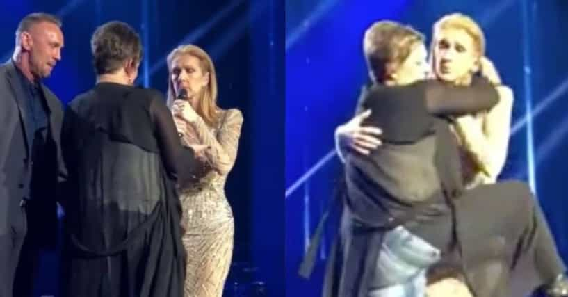 Watch celine dion calm down fan who storms stage tries to for On traverse un miroir celine dion