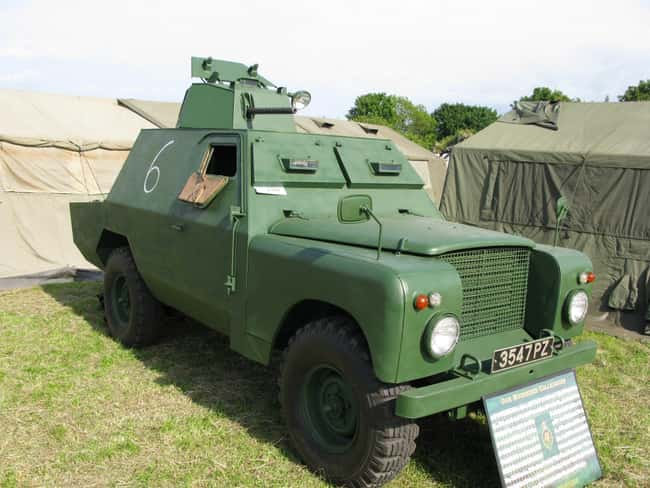 Shorland armoured car is listed (or ranked) 12 on the list Full List of Land Rover Models
