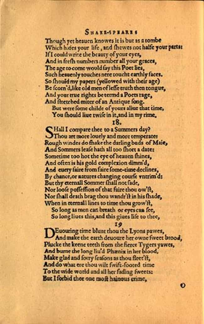 Shall I compare thee to a summ... is listed (or ranked) 2 on the list The Best of William Shakespeare's Sonnets