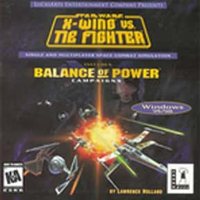 Star Wars: X-Wing vs. TIE Figh is listed (or ranked) 10 on the list The Best Space Combat Simulator Games of All Time