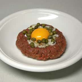 Steak tartare is listed (or ranked) 24 on the list The Worst Foods to Eat on a Date