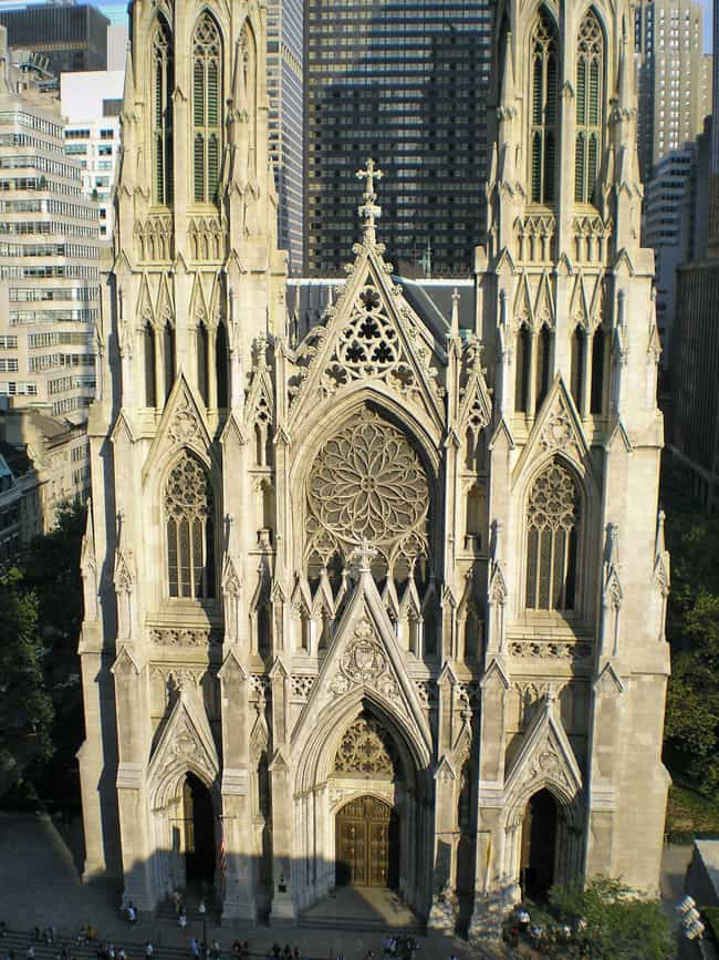 St. Patrick's Cathedral ... is listed (or ranked) 1 on the list Architecture: Most Beautiful Cathedrals/Churches-U.S./Canada