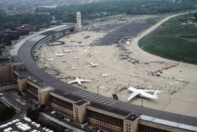 Berlin Tempelhof Airport... is listed (or ranked) 4 on the list List of Famous Berlin Buildings & Structures