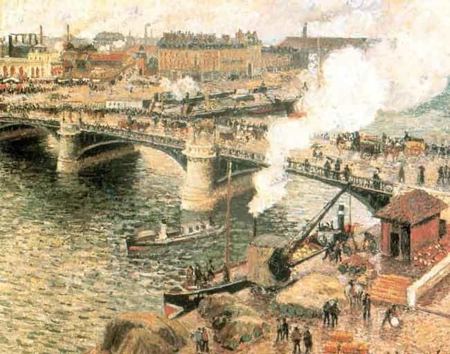Pont Boieldieu in Rouen,... is listed (or ranked) 2 on the list Famous Landscape Arts by Camille Pissarro