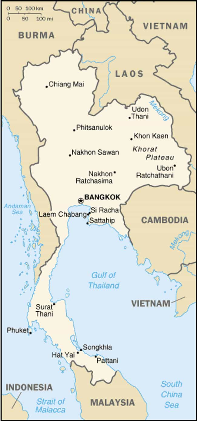 Thailand is listed (or ranked) 4 on the list The Top Ten Countries for Outsourcing Business
