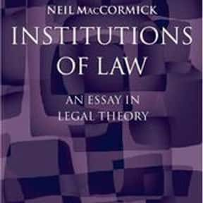 Institutions of Law is listed (or ranked) 7 on the list The Best Books About Jurisprudence