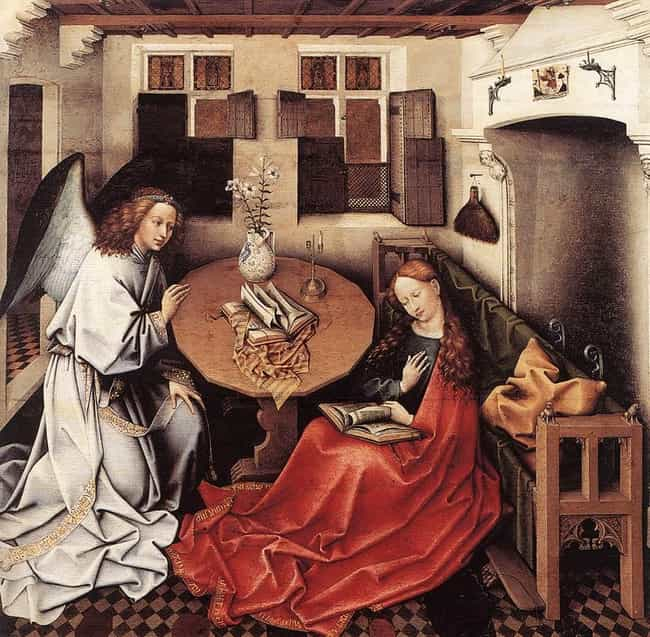 Annunciation is listed (or ranked) 3 on the list List of Famous Christian Art Paintings