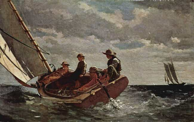 Breezing Up is listed (or ranked) 3 on the list Famous Winslow Homer Paintings