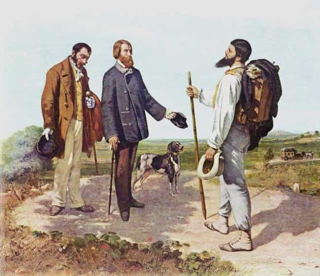 La rencontre (Bonjour Monsieur... is listed (or ranked) 2 on the list Famous Genre Paintings by Gustave Courbet
