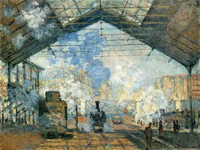 La gare Saint-Lazare is listed (or ranked) 3 on the list Famous Rail transport Art