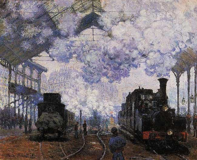 Gare Saint-Lazare: Arrival of ... is listed (or ranked) 2 on the list Famous Rail transport Art