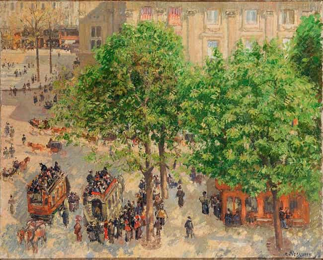 Place du Theatre-Francai... is listed (or ranked) 4 on the list Famous Camille Pissarro Paintings