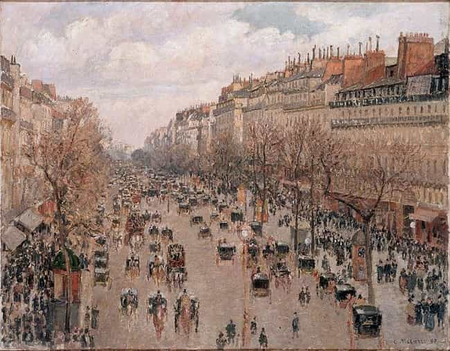 Boulevard Monmartre,Pari... is listed (or ranked) 1 on the list Famous Camille Pissarro Paintings