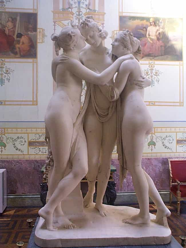 The Three Graces is listed (or ranked) 4 on the list Famous Antonio Canova Sculptures