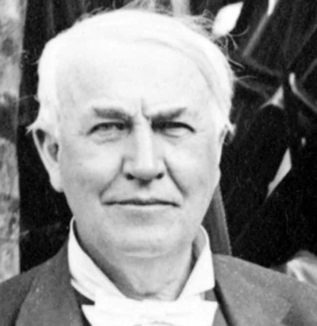 Thomas Edison is listed (or ranked) 4 on the list 14 Famous People with Narcolepsy