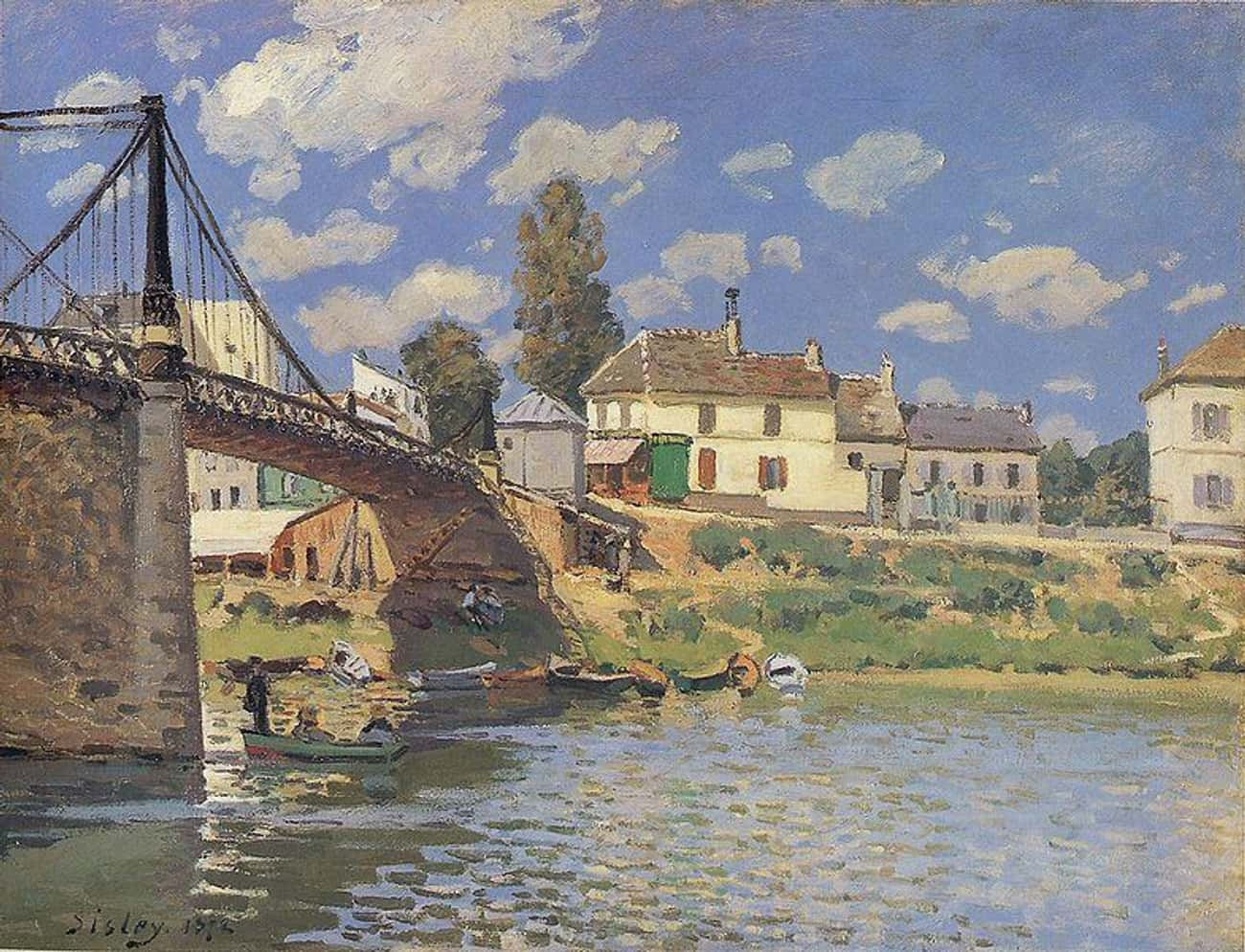 Bridge at Villeneuve-la-Garenn is listed (or ranked) 2 on the list Famous Landscape Arts  from the Impressionism Movement