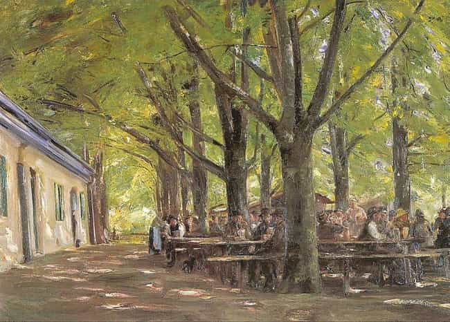 Biergarten at Brannenbur... is listed (or ranked) 2 on the list Famous Naturalism Paintings
