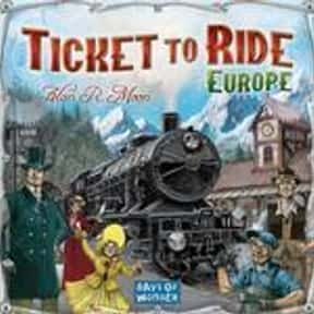 Ticket to Ride: Europe is listed (or ranked) 6 on the list The Best Board Games of All Time